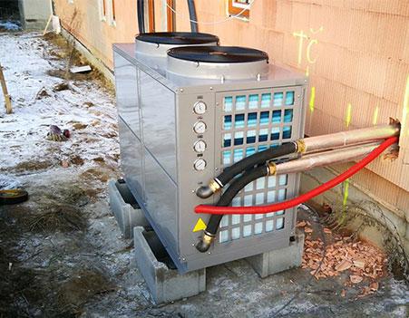 SPRSUN 10p commercial heat pump project