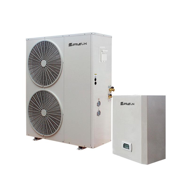 16-18KW EVI DC Inverter Air to Water Low Temp Heat Pump - Split Type -  SPRSUN Heat Pump Manufacturer